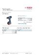 Produktdatablad, Bosch GSR18V-60C