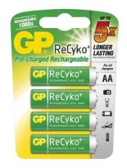 R6/AA-batterier, Genopladelige, 4-pak