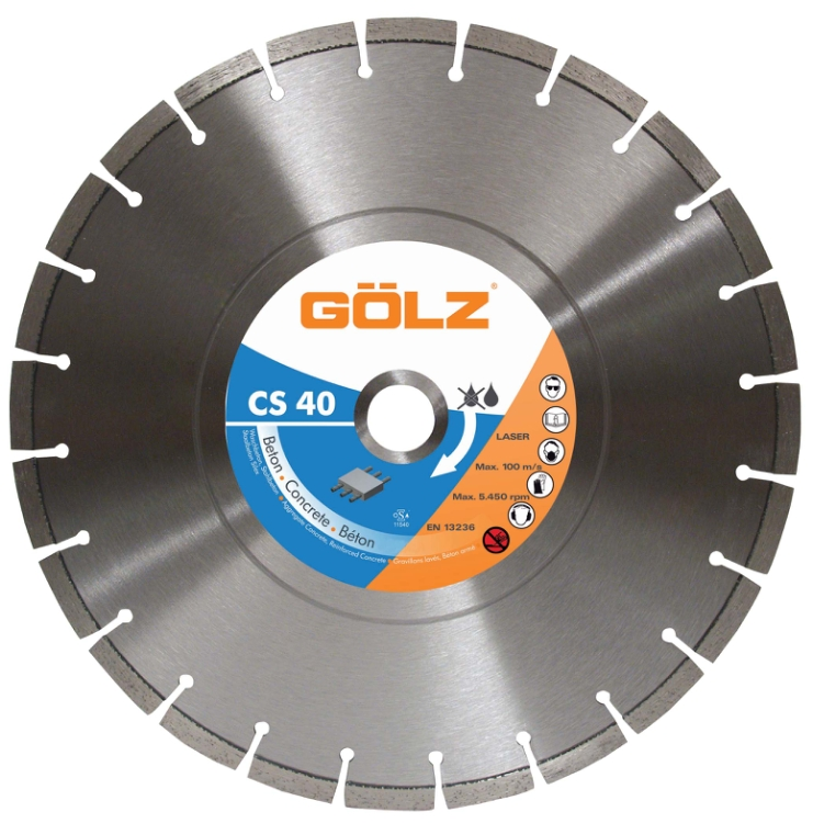 Gölz CS 40, Ø450x25,4 mm, Diamantskive