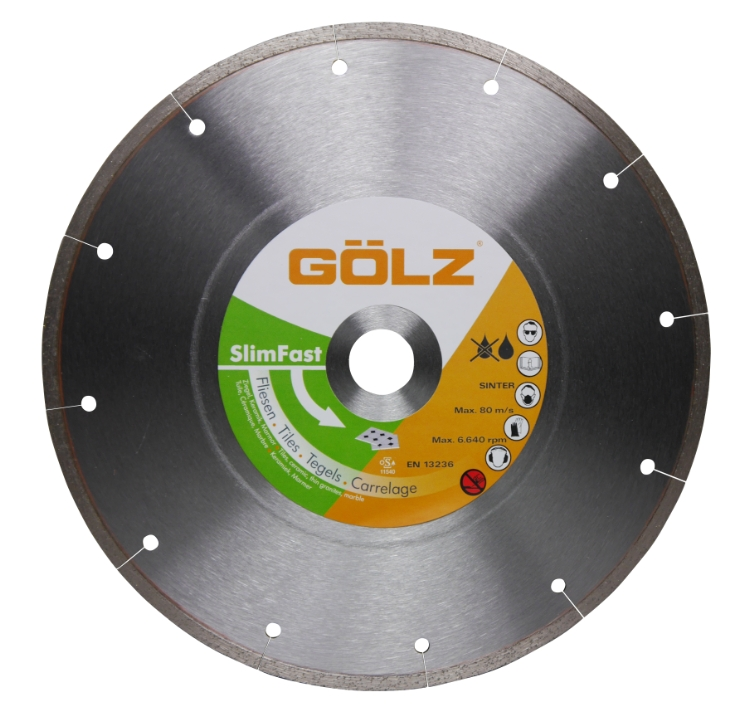 Gölz Slimfast, Ø250x25,4 mm, Diamantskive
