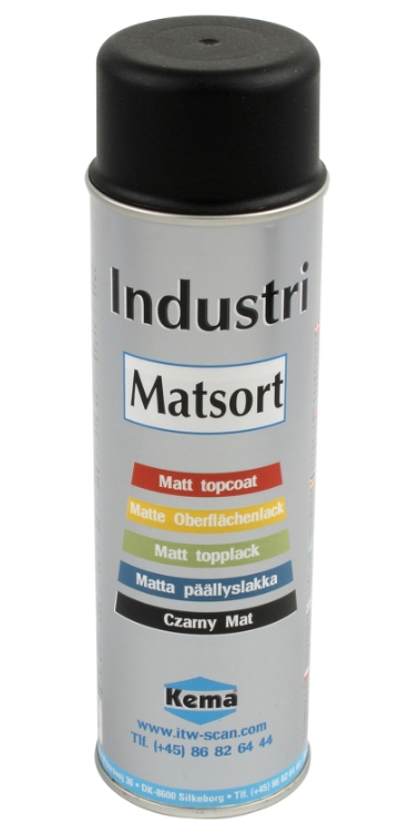 RAL Industrilak, Matsort, Spray, 500 ml