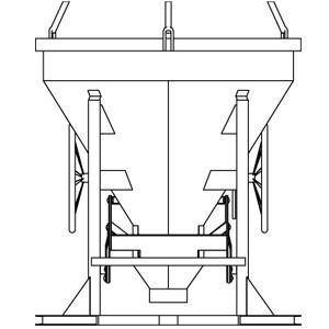Betonspand, 750 l, Type 43