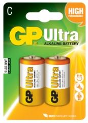 Ultra Alkaline, LR14/C, 2-pak