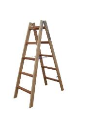 Træstige, 1,43 m / 2x5 trin