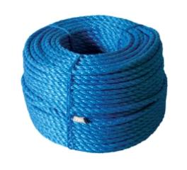 Polyreb, Blå, 3-slået, 10 mm