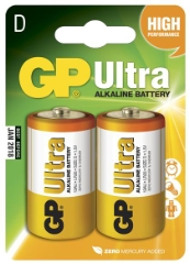 Ultra Alkaline, LD20/D, 2-pak